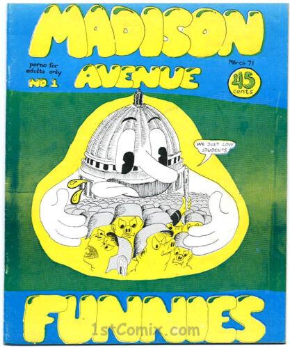 Madison Avenue Funnies, 1st Print, 1971, UNDERGROUND COMIC - RARE