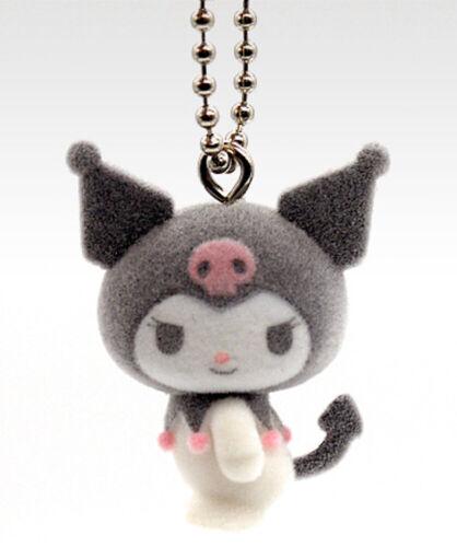 Takara Tomy Sanrio My Melody & Friends Kuromi Flocked Keychain Mascot Y860409 US