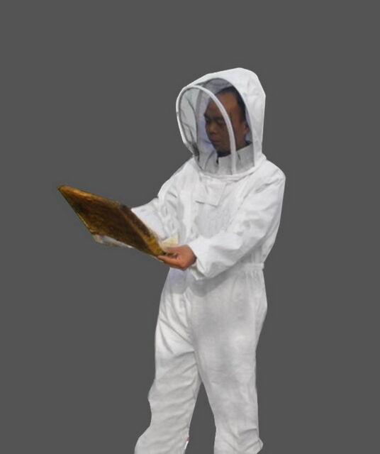 Beekeeping Jumpsuits Jacket Veil Bee Protection Suit Dress Smock Equipment FF