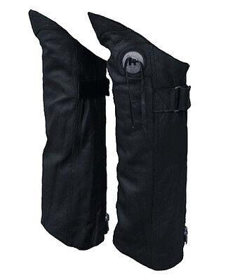Genuine Leather Half Chap Boot Pant Protectors Leggings Leg Guards w/ Concho 2XL Chap-boot