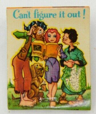 Cant Figure It out! Cartoon Trimble Equipment Full Unstruck Vintage Matchbook Ad