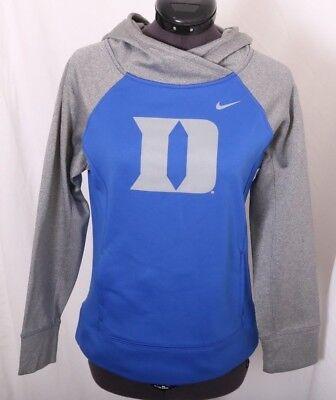 Duke University Blue Devils Nike Therma-Fit Dri-Fit Sweatshirt Hoodie Girl's M Duke Blue Devils Girl