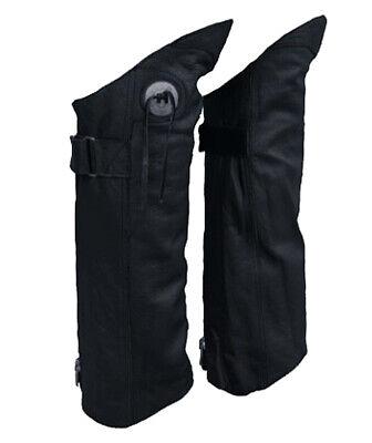 Chap-boot (Genuine Leather Half Chap Boot Pant Protectors Leggings Leg Guards L/XL)