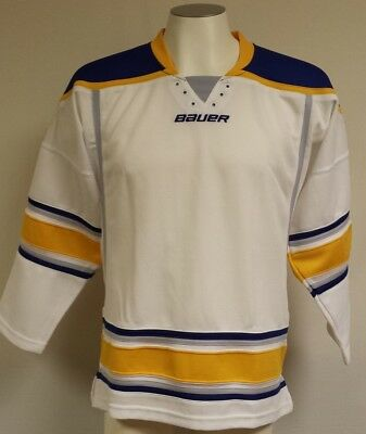 80e9f46a Bauer 800 Uncrested NHL Hockey Jersey, Youth-Large (Buffalo Sabres-White)