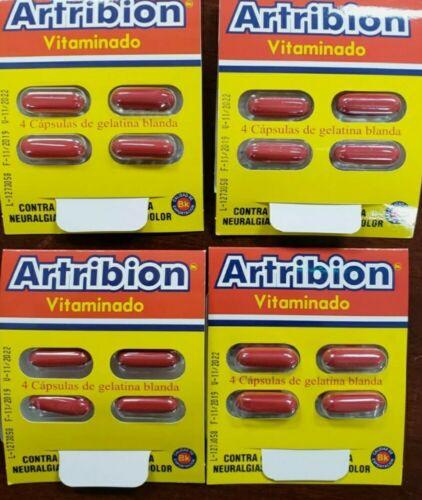 Artribion Vitaminado 4 Sobres(16 Capsulas)para Dolor Artritis Iflamacion, hueso
