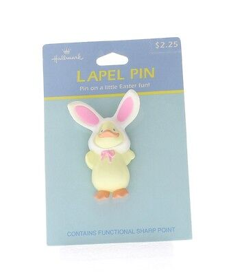 Bunny In A Hat Costume (Hallmark Easter Hat Lapel Pin Easter Chic in a Bunny Rabbit)