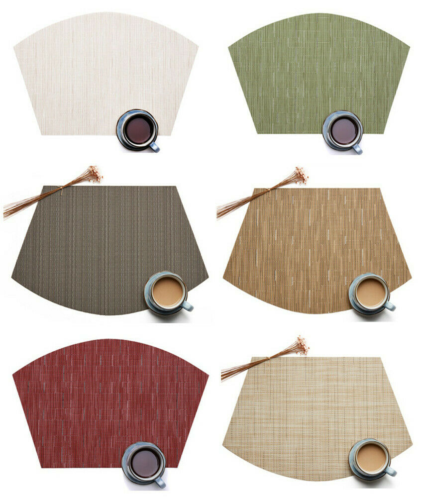Placemats for Round Table Set of 6pcs Wedge Kitchen Table Ma