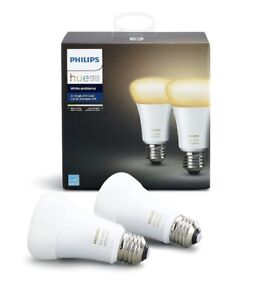 Philips Hue A19 2 Pack White Ambience Bulbs
