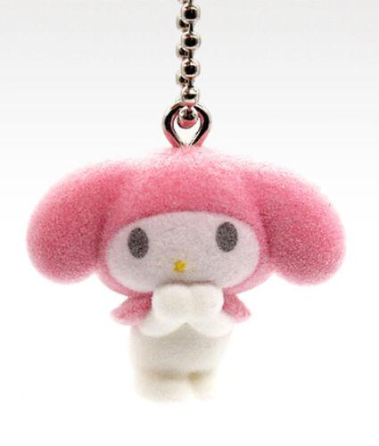 Takara Tomy Sanrio My Melody & Friends Flocked Keychain Mascot Capsule Y860409