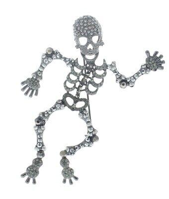 Happy Halloween Dancing Skeleton Spooky Bones Pin Broach Brooch - Happy Halloween Skeletons