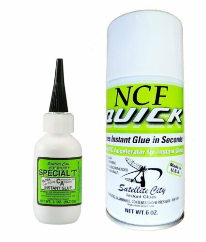 Satellite City HST-4T Special T 2oz thick CA glue & NCF Quick Accelerator