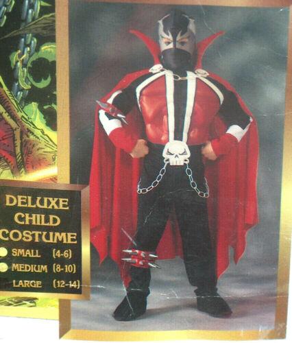 NEW Todd McFarlane RARE Spawn Deluxe Child SZ Large 12-14 Halloween Costume NIP