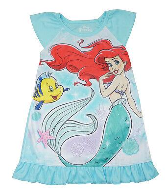 Disney Princess Girls Little Mermaid Pajama Nightgown Size 4