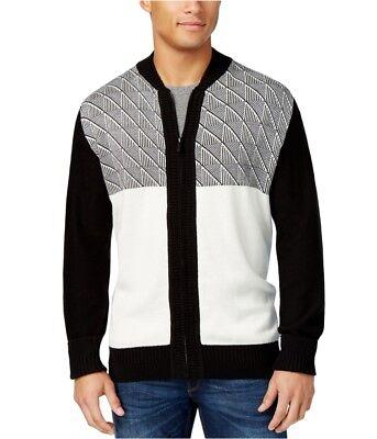 Sean John Mens Jacquard Zip-Up Cardigan Sweater - Jacquard Zip Cardigan