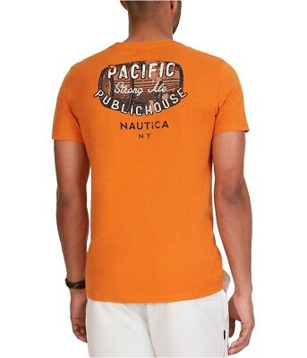 Nautica Mens Pacific Public House Graphic T-Shirt fireside S