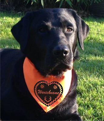Geschenk Hundehalstuch mit Namen Hund Halsband Stern Knochen Herz Anker