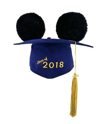 2018 Graduation Mortar Board Tassel Hat Disney Parks Mickey Mouse Grad Ears NWT - Disney Graduation Ears