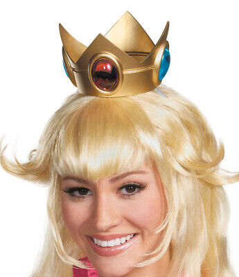 Princess Peach Crown Super Mario Bros Costume Accessory Adult Womens Girls - Super Mario Bros Princess Costume