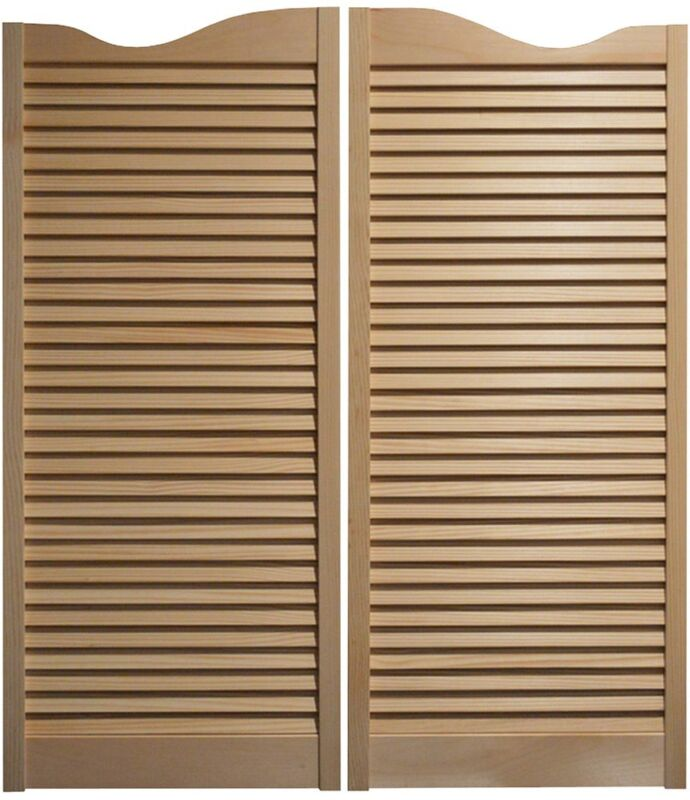"""PINE CAFE DOORS Louvered Western Swinging Saloon 30"""" 32"""" & 36"""" W x 42""""T w/Hinges"""