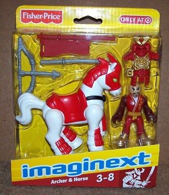 FISHER-PRICE IMAGINEXT KNIGHTS - NINJA ARCHER & HORSE - TARGET EXCLUSIVE (NEW)