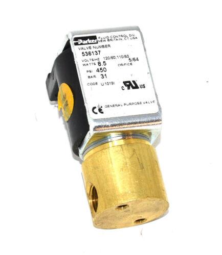 Parker 536137 Solenoid Valves, 120 Volts, 8.5 Watts