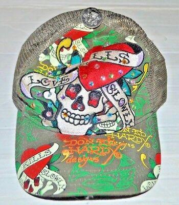ED HARDY by DON ED Hardy (Adjustable Snap Back) Mesh Cap Multi rhinestones AA Rhinestone Mesh Back Cap