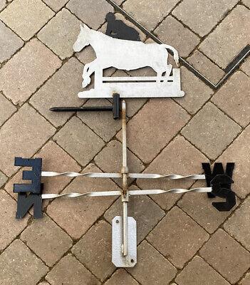 HORSE & JOCKEY METAL WEATHER VANE IN USED CONDITION