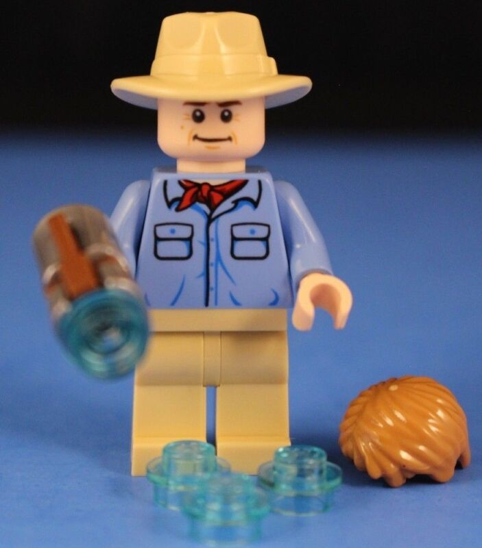 LEGO Dr ALAN GRANT w// Baby Raptor 75932 minifig lot figure dino jurassic park