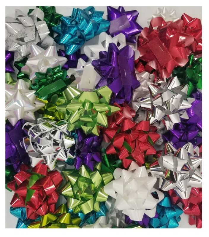 Kirkland Signature 50Count Self Adhesive Gift Bows Assorted Colors and Sizes