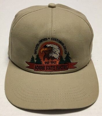 Vtg Border States Electric Hat Fargo North Dakota Cap Made In The USA Eagle ND