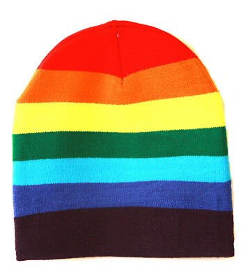 Cuffless Winter Rainbow - Rainbow Beanie