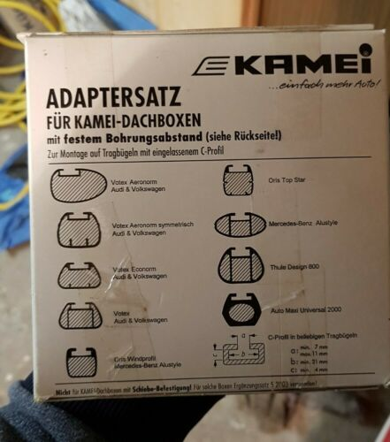 Kamei 52014 Adaptersatz für Dachboxen, Tragbügel mit eingelassenem C Profil, NEU