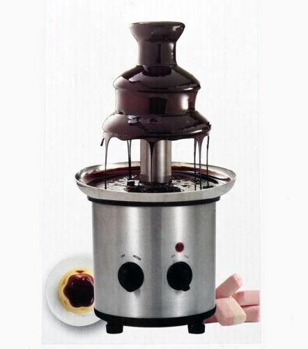 "11"" Chocolate Fondue Fountain 3 Tier 3 pound Stainless Heavy"