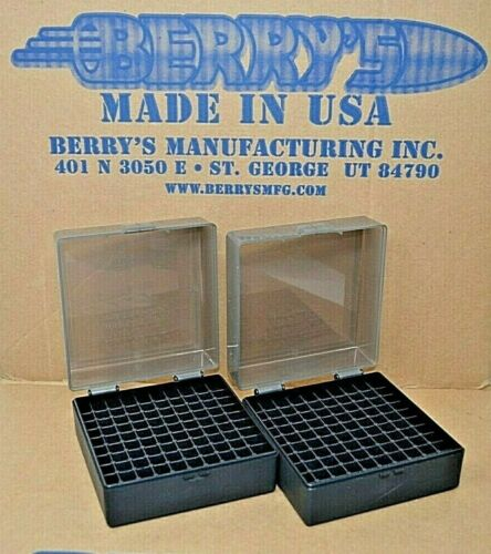 .223 / 5.56 BERRY AMMO BOXES 200 RNDS OF STORAGE (2-Pack SMOKE / BLACK)