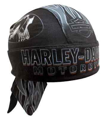 Harley-Davidson Men's Engulfed Flaming Skull Head Wrap, Moisture Wicking HW15290