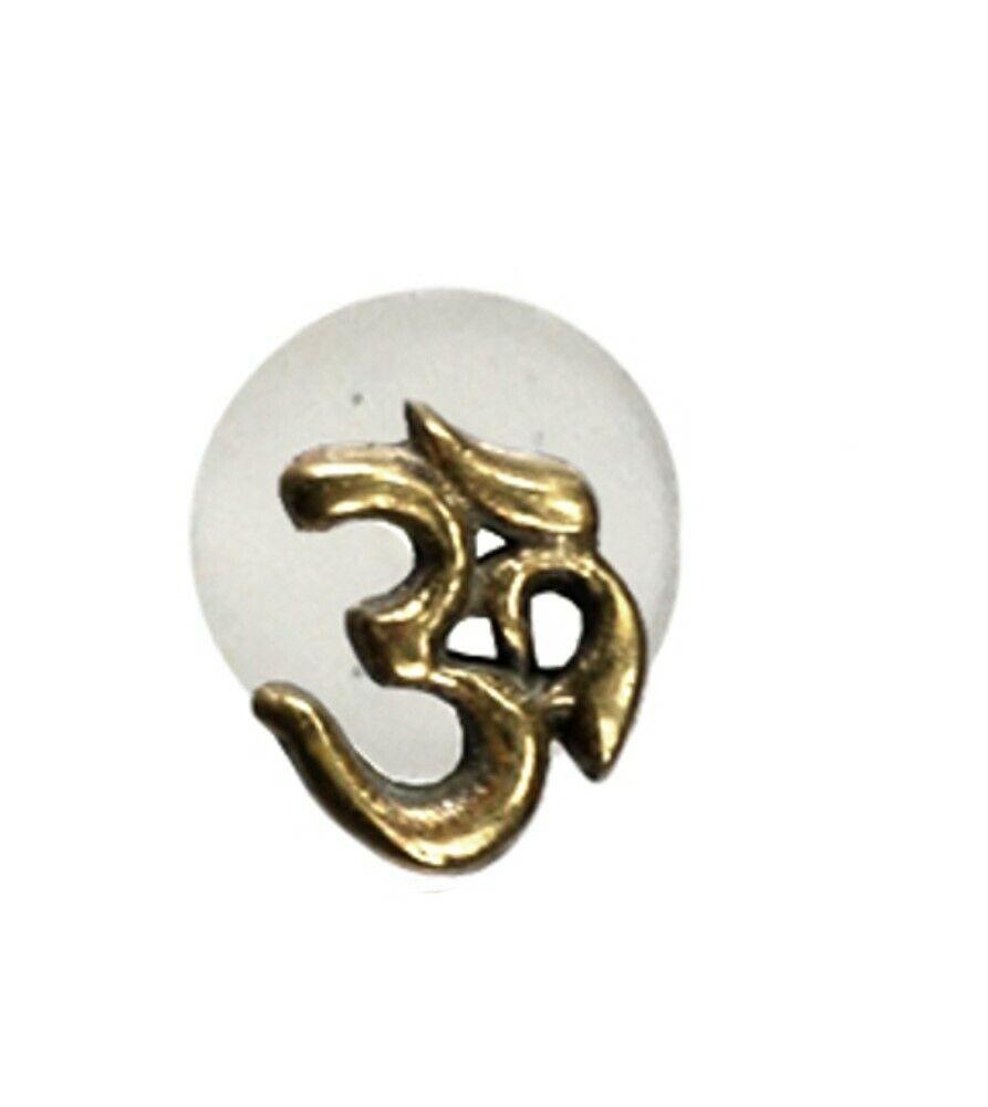 Labret Lippen Piercing Acryl Punkte Blume Granat antik golden Brass Motiv