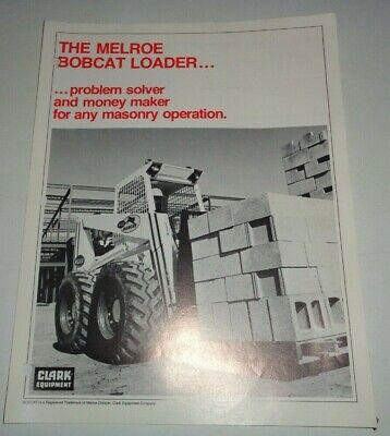 Bobcat Skid Steer Loader Utility Pallet Fork Lift Sales Brochure 371610700970