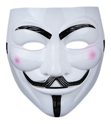 New 2 Guy Fawkes Anonymous Face Mask Hacker V For Vendetta Halloween Fancy Dress](Halloween Costumes For 2 Guys)