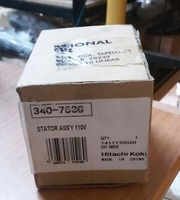 Hitachi 340-753c Stator Assy 110v For Hammer Drill Dh 38ss
