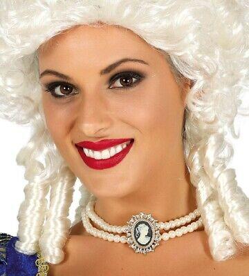 Damen Cameo Pearl Georgianisches Edles Halsband Kostüm Kleid Outfit - Pearl Damen Kostüm
