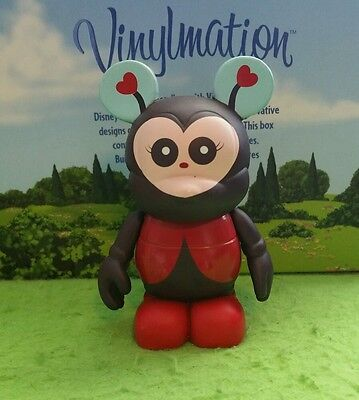 "DISNEY Vinylmation 3"" Park Set 1 Cutesters Ladybug Red Hearts"