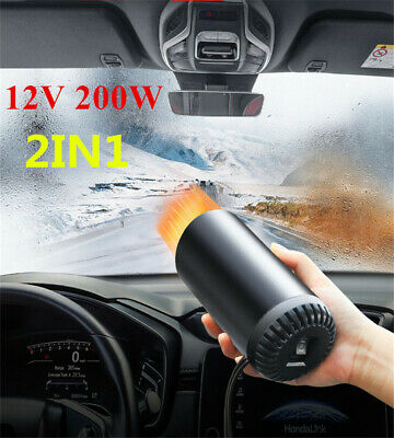 DC 12V 200W Car Heater 2 In 1 Cup Heater Cooler Fan Portable Demister Defroster