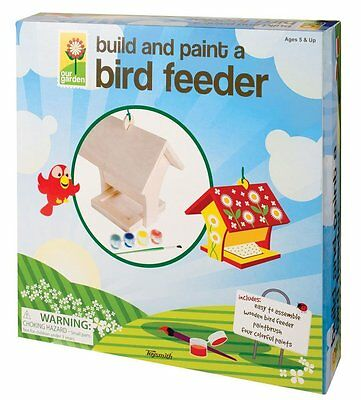 BUILD AND PAINT A BIRD FEEDER - OUR GARDEN TOYSMITH KIDS CRAFT & ACTIVITY KIT