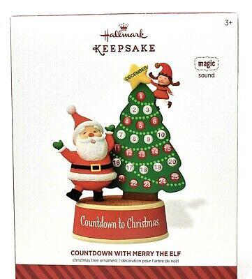 RARE NEW 2014 HALLMARK COUNTDOWN WITH MERRY THE ELF CHRISTMAS ORNAMENT SCARCE