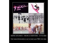 SHINE STUDIOS HOLBURY - FREE TRIAL DANCE CLASS - TODDLER TO TEENS