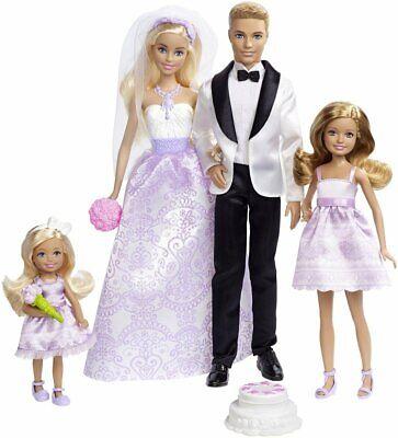 Barbie Yo Lata Ser un Novia Boda Día Juego Exclusivo 4 Paquete...