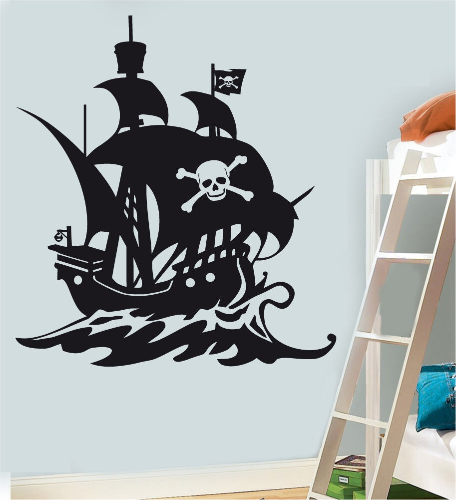 pirate ship wall art vinyl stickers jake childrens bedroom