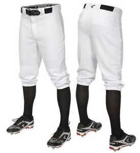 Easton Men's Pro+Knicker Style Baseball Softball Pants, White. A167103WHM