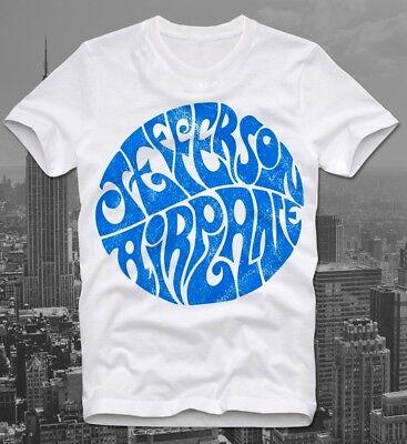 T-Shirt Jefferson Airplane White Rabbit Stoner Psychedelic Rock Retro Vintage  (Jefferson Airplane T-shirt)
