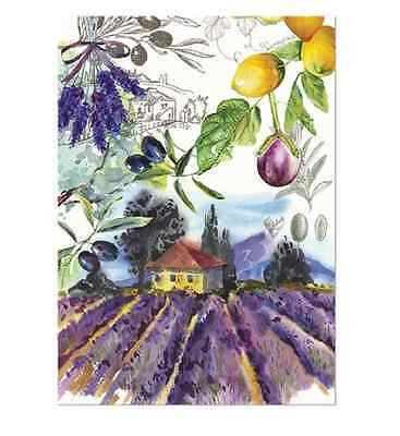 CAMPAGNA Cotton Kitchen Towel by  Michel Design Works - Lavender Field in Italy